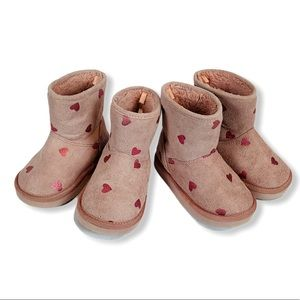 Toddler Sherpa Lined Pink Boots